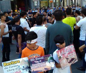 اٹلی میں جنت البقیع کی مسماری کے خلاف احتجاج
