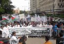 شہر قائد کراچی میں ٹی این ایف جے کی کفن پوش جنت البقیع ریلی