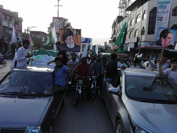 راولپنڈی ۔۔جشن آزادی کے موقع پر مختارسٹوڈنٹس آرگنائزیشن کی مری روڈ پر شان پاکستان ریلی