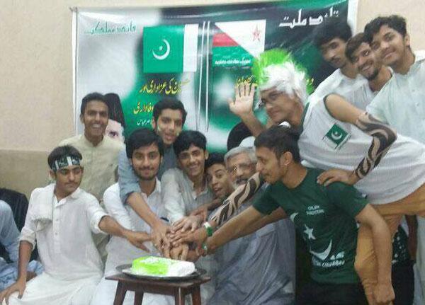 پشاور: مختار سٹوڈنٹس کے طلباء کی یوم آزادی تقریب