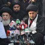 حسینی ؑ ہیں داعشی جھنڈوں سے گھبرانے والے نہیں،بانیان سے بانڈ بھروانا غیر آئینی ہے،8محرم کے مرکزی جلوس میں قائد ملت جعفریہ آقائے موسوی کا میڈیا و ماتمیوں سے خطاب