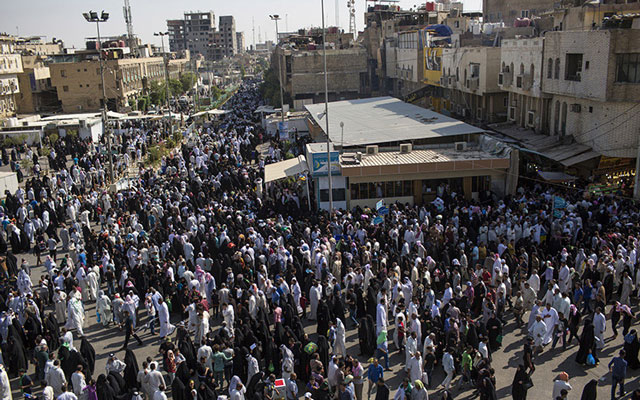 یوم عرفہ :کربلائے معلی کے کوچہ و بازار میں زائرین کا ہجوم