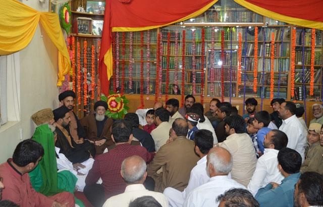 قائد ملت جعفریہ آغا حامد موسوی عید غدیر کی تقریب سے خطاب کررہے ہیں ۔