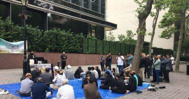 مریم ؑ کی آقا زادی کی تربت اجڑ گئی!!! اقوام متحدہ ہیڈکوارٹر کے سامنے جنت البقیع کی بحالی کیلئے فقید المثال احتجاج