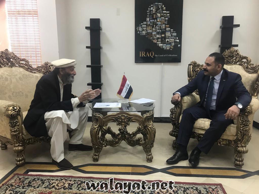 تحریک نفاذفقہ جعفریہ کے نمائندہ وفدکی زائرین اربعین کے مسائل کے حل کیلئے عراقی سفارتخانے کے ہیڈآف مشن سے اہم ملاقات