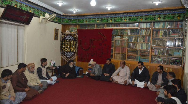 وحدت و اخوت کمیٹی خیبر پختونخواہ کا وفد قائد ملت جعفریہ آقائے موسوی سے ملاقات کررہا ہے ۔