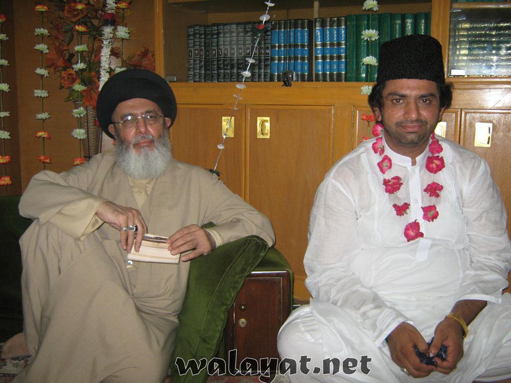 علامہ ناصر عباس شہید کی قائد ملت جعفریہ آقائے موسوی کے ساتھ یادگار تصویر