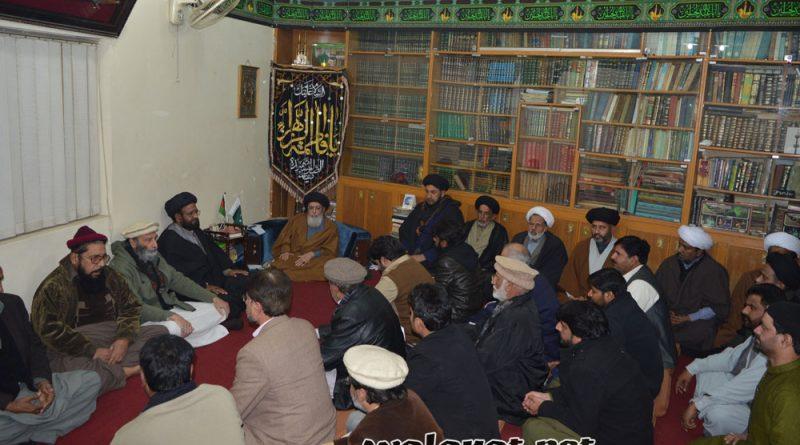 قائد ملت جعفریہ آغا سید حامد علی شاہ موسوی ایام عسکری ؑ کی تقریب سے خطاب کررہے ہیں ۔