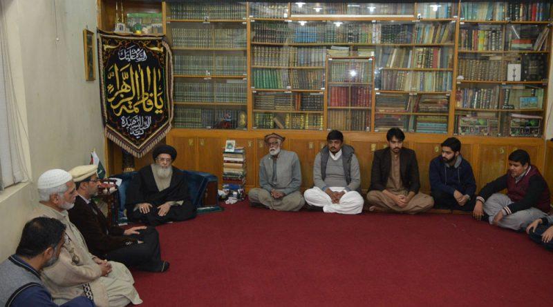پشاور کے وفد کی قائد ملت جعفریہ آقائے موسوی سے ملاقات