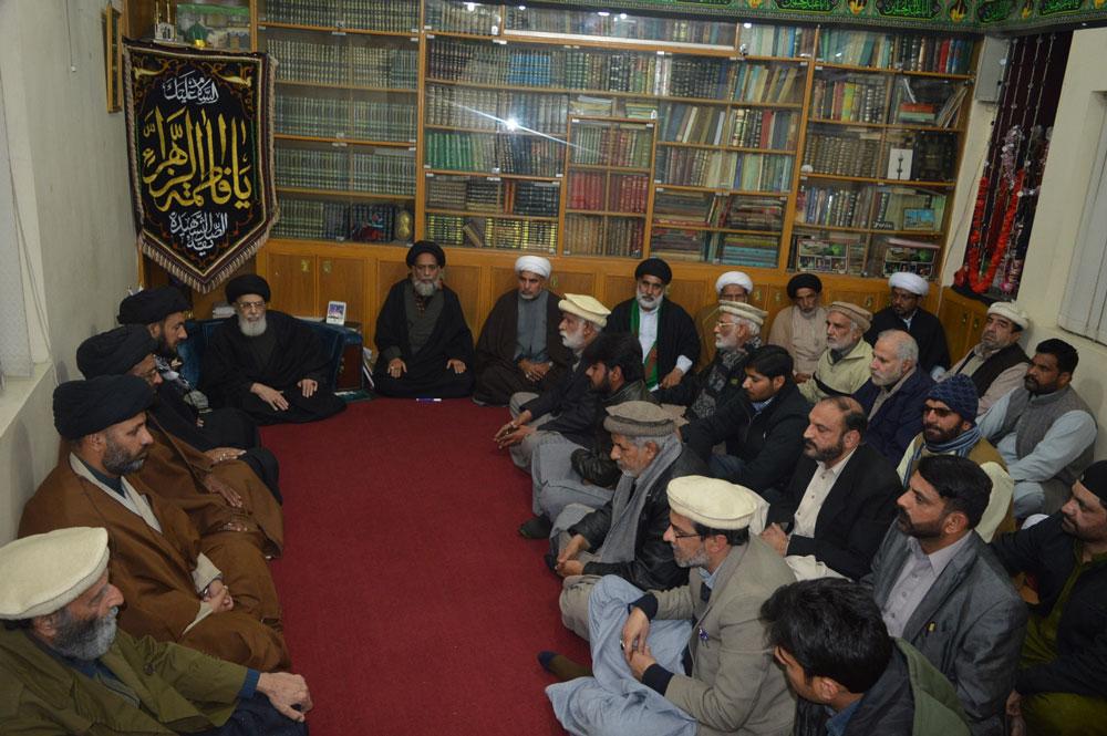شیعہ آئمہ مساجد کے علمائ کی قائد ملت جعفریہ آقائے موسوی سے ملاقات