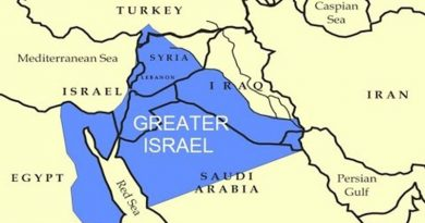 گریٹر اسرائیل کا ناپاک نقشہ