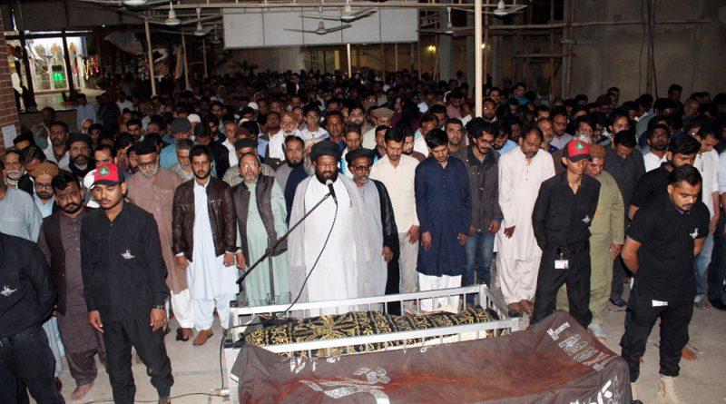 علامہ وقار تقوی کی نمازجنازہ