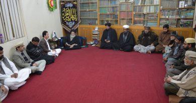 بلوچستان کے وفد کی قائد ملت جعفریہ آقائے موسوی سے ملاقات