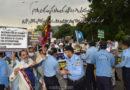 خاردار رکاوٹیں جنت البقیع کے پروانوں کو  روکنے میں ناکام،جناح ایونیو پر اجڑے مزاروں کا دلدوزاحتجاج ؛ جنت البقیع اورعمر بن عبدالعزیز پر حملوں کا ماسٹر مائنڈ ایک ہے ، آغا حامد موسوی