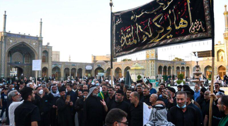 کربلا والے امام رضاؑ اور کریمہ اہلبیتؑ کو شہادت امام تقی علیہ السلام کا پرسہ دینے ماتمی جلوس لئے قم و مشہد آگئے